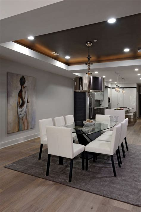 Dining Room Tray Ceiling Ideas - glamorous lighting ideas that turn tray ceilings into