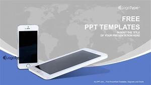 Templates Agenda Mobile Phones With Lines Powerpoint Templates