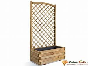 Jardinière Avec Treillage : jardini re rectangulaire en bois avec treillage en arc parlonsjardin ~ Melissatoandfro.com Idées de Décoration