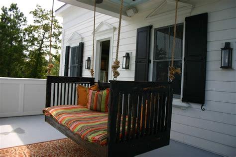 brynn bed swing  vintage porch swings charleston sc traditional porch charleston