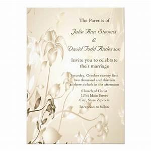 elegant vintage beige lilies wedding custom invitation With elegant wedding invitations for less