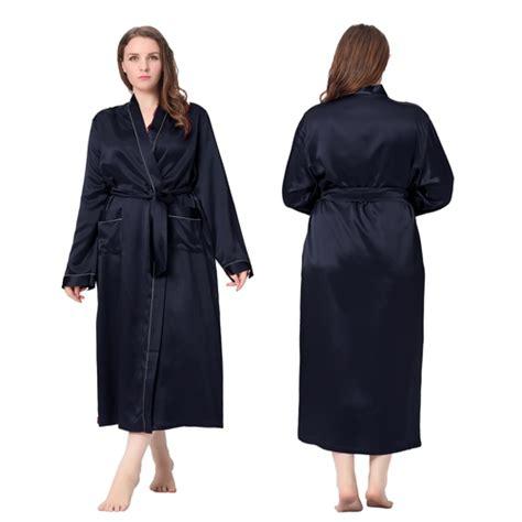 robe de chambre grande taille robe de chambre femme longue soie 22 momme liseré blanc