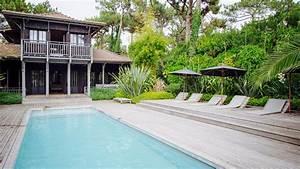 cap ferret villa en bois de luxe avec piscine proche With maison a louer cap ferret avec piscine