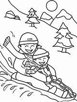 Sledding Printable Snowsuit Worksheets sketch template