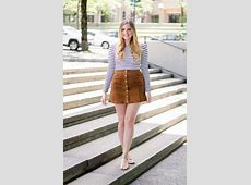 Suede Skirt Outfit Idea Tobi Clothing