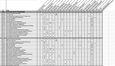 For Project Management Raci Chart Template