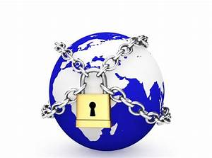 0914 Blue Earth Globe Locked With Chains For Global