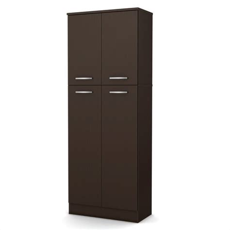 South Shore Storage Cabinet Chocolate by South Shore Storage Pantry In Chocolate 7159971