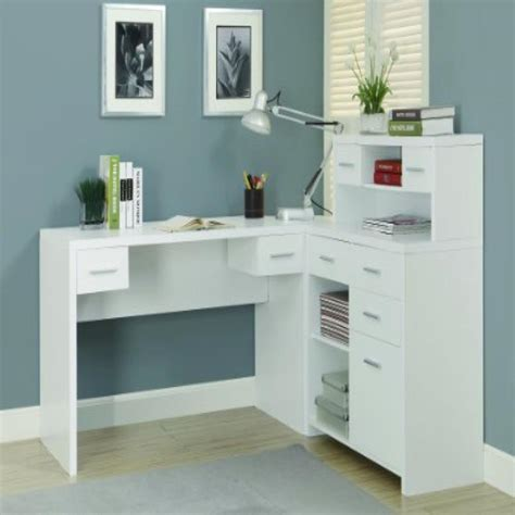 monarch specialties hollow core l shaped home office desk white hollow core l shaped home office desk