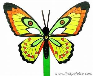 Green Butterfly Drawing For Kids