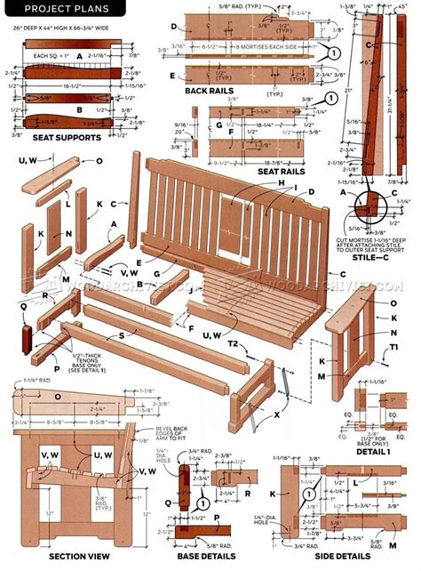 porch glider plans woodarchivist