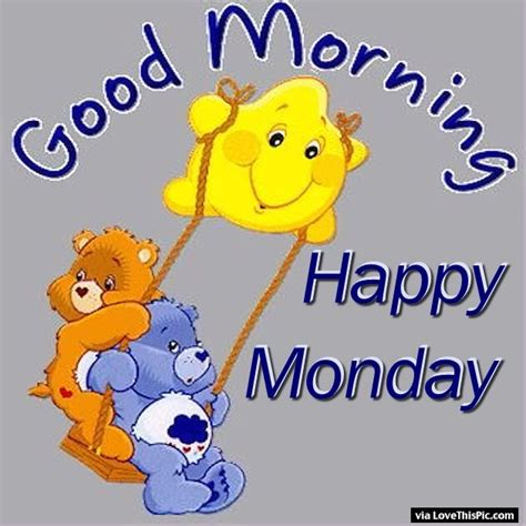 Morning Happy Monday Images Carebears Morning Happy Monday Pictures Photos And