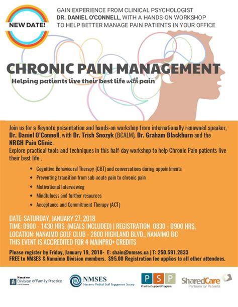 cme chronic pain management nmses nanaimo medical