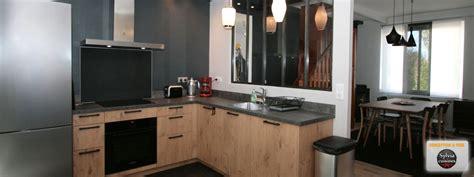 cuisine atelier cuisine esprit atelier cuisines caen acier béton ciré verrière