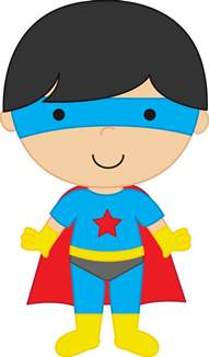 Super Boy Superhero Clip Art