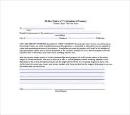 30-Day Eviction Notice Template Free