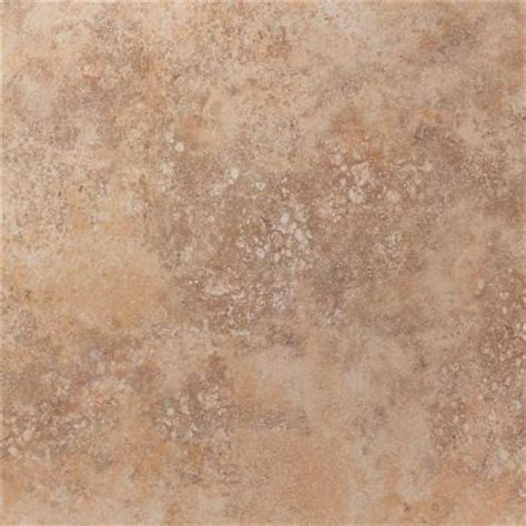 Home Depot Floor Tiles Porcelain by U S Ceramic Tile Tuscany Desert 18 In X 18 In Glazed