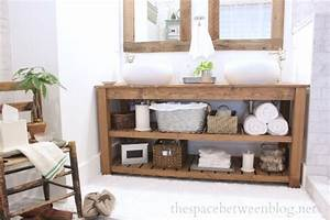 Diy bathroom vanity ideas perfect for repurposers for Spa style bathroom vanity