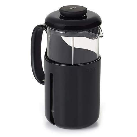 Travel french press coffee maker, ideal for enjoying your favorite cup of coffee on the go. OXO Good Grips® Venture 8-Cup French Press Coffee Maker in Black/Clear in 2020 | Camping coffee ...