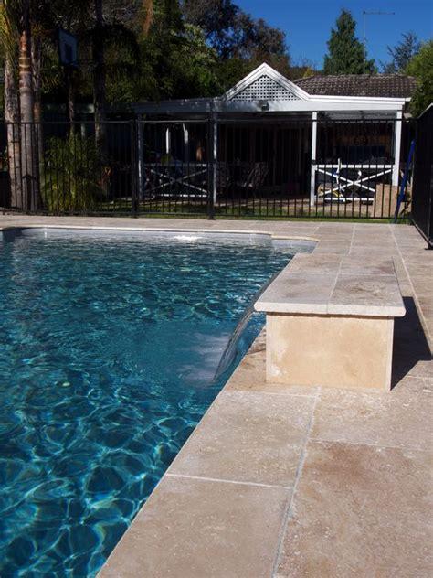 tiles for around swimming pools travertine around the pool travertine pavers tiles pinterest pool decks travertine
