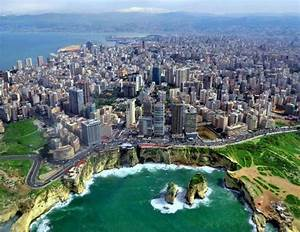 Pigeons Rock Off Coast Beirut Lebanon Places To See