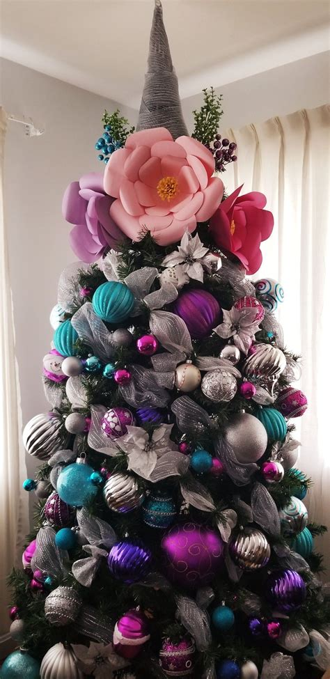 Unicorn Christmas tree Árboles de navidad temáticos