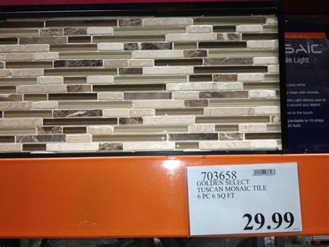 golden select glass  stone tuscan mosaic tile pc