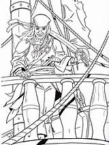 Coloring Pirate sketch template