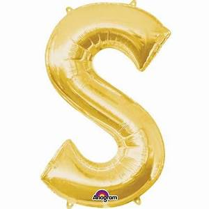 extra large gold foil balloon letter s hobbycraft With extra large craft letters