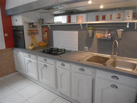 cuisine de cuisine de juillet aout craie patine beton relook meubles62