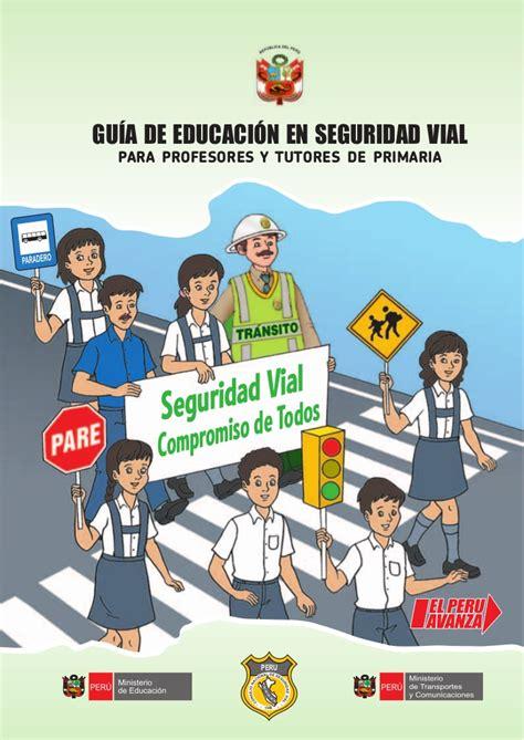 guia educaci 243 n vial primaria