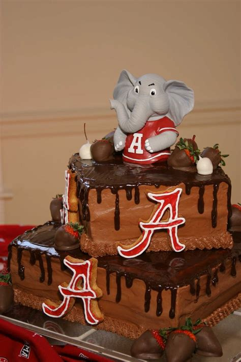 alabama cake  grooms table sec cakes pinterest