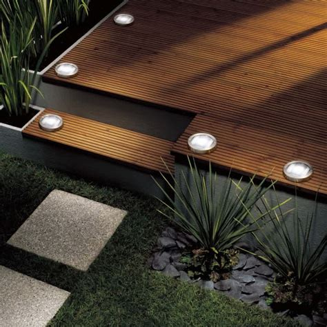 deck solar lights fabulous recessed deck lighting ideas doherty house
