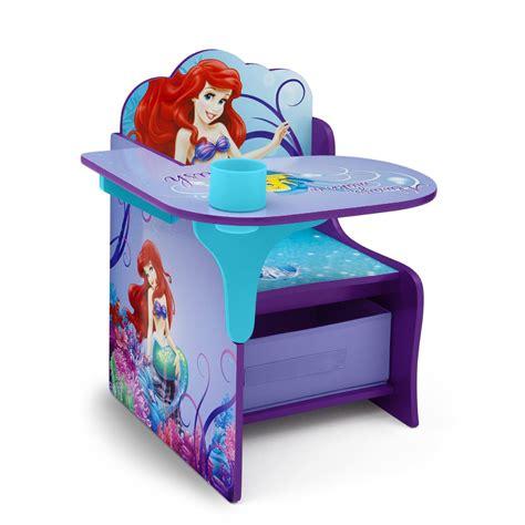 chair desk with storage bin delta children disney mermaid chair desk with