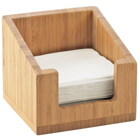 napkin holder cal mil 3309 60 bamboo napkin holder 6 1 4 quot x 6 1 4 quot x 5 12 quot