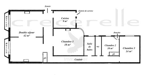 appartement avec 2 chambres plan appartement 2 chambres appartement n 307 riva