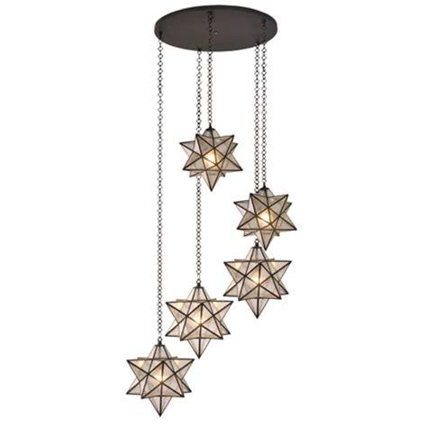 meyda  moravian star multi pendant ceiling fixture