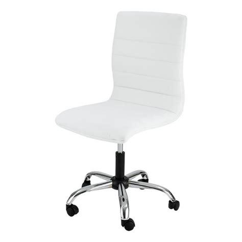 chaise blanche pas cher chaise de bureau blanche zoé id 39 clik achat vente