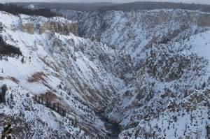 Lower Falls Yellowstone Winter
