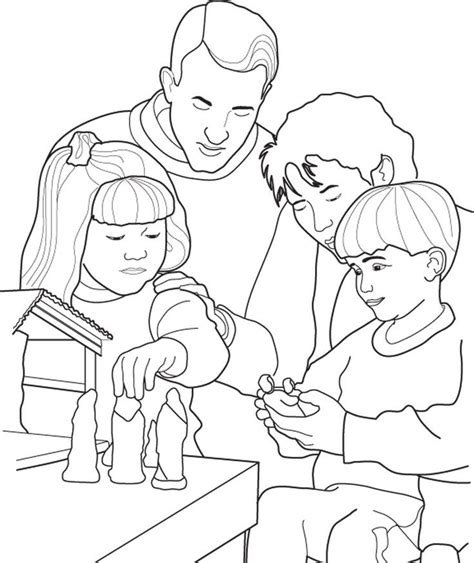 Families Kleurplaat by Coloring Pages Of Families Going To Church Az Coloring Pages