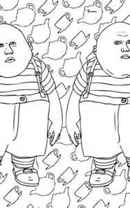 tweedle dum  tweedle dee coloring page  printable