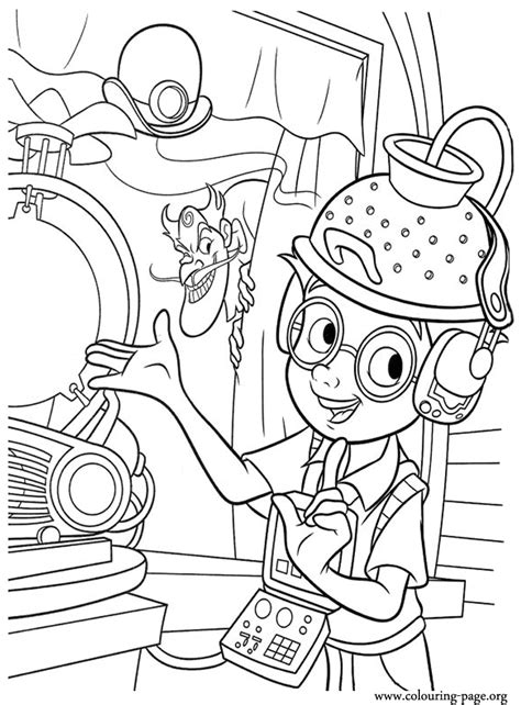 meet  robinsons lewis  bowler hat guy   science fair coloring page