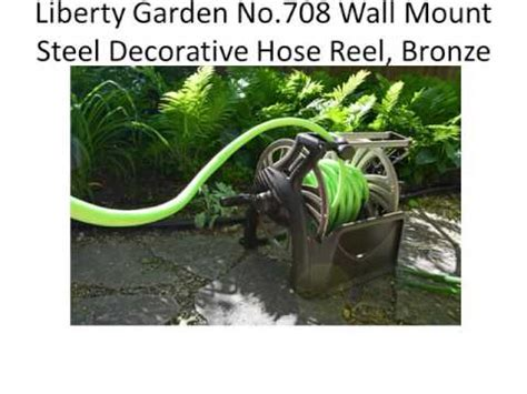 wall mount ames hose reel liberty garden no 708 wall mount
