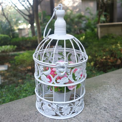 bird cage white decorative handmade small metal birdcage vintage iron white wedding decorative bird cage for home decor in