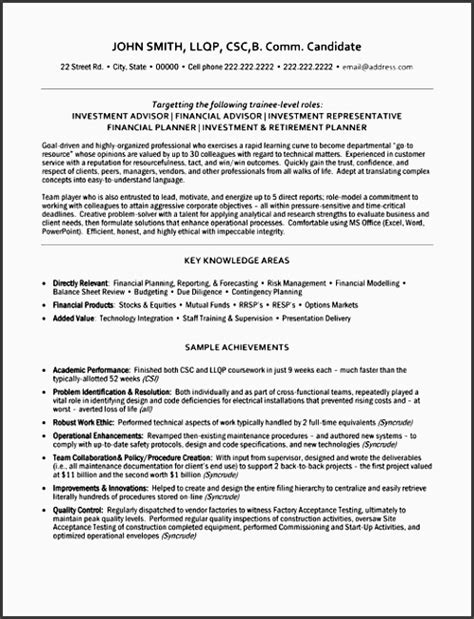 Resumes For Retirees by 10 Retirement Financial Planner Sle Sletemplatess