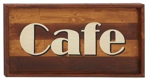 amazingly useful wood cafe wall sign modern novelty signs by zeckos
