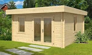 Chalet Bois Toit Plat : abri de jardin toit plat 20m2 ~ Melissatoandfro.com Idées de Décoration