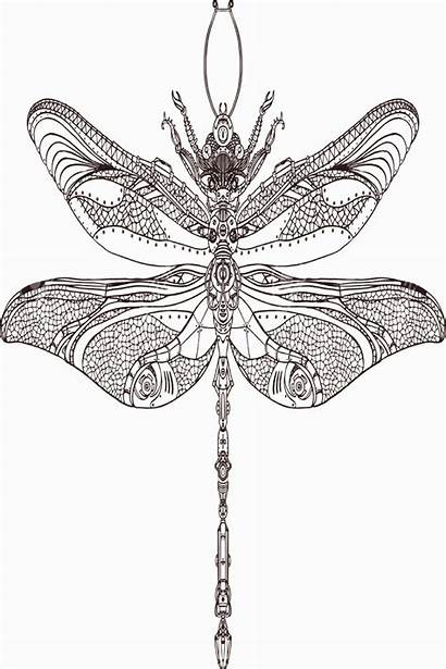 Dragonfly Steampunk 4pint Tattoo