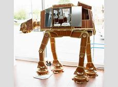 The Emperor's Cabinet, A Large Wooden 'Star Wars' ATAT