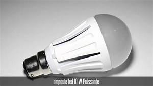 Ampoule Baionnette Led : ampoule led 10w baionnette b22 youtube ~ Edinachiropracticcenter.com Idées de Décoration